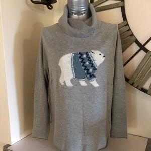 JJill Polo bear sweater.
